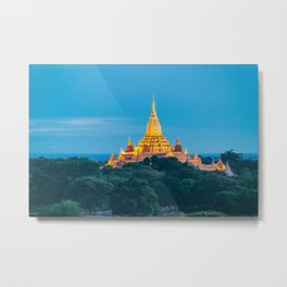 Sunrise Bagan Temple Metal Print