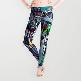 Ski Party - Skis and Poles Leggings