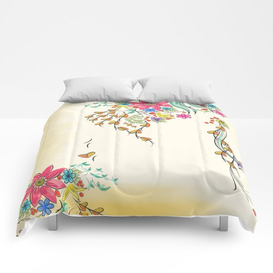 Vibrant Floral to Floral Comforters