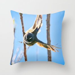 Fantail Fly Throw Pillow