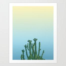 Wild Cactus Blue Art Print