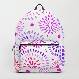 Abstract watercolor sparkles – ultraviolet and pink Backpack