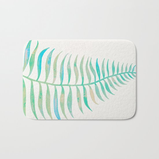 Palm Leaf – Sea Foam Palette Bath Mat