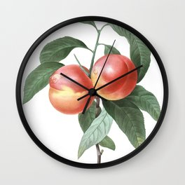 HIGHEST QUALITY botanical poster of Peach Wall Clock