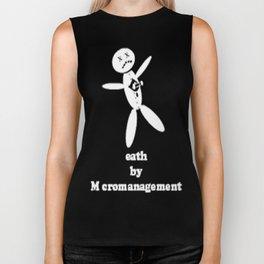 Death By Micromanagement Biker Tank