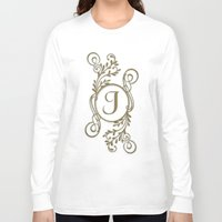 monogram Long Sleeve T-shirts featuring Monogram J by Britta Glodde