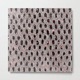 Watercolour Blackwork: 'Lozenge' Burnt Rose I (light) Metal Print