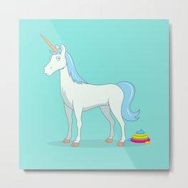 Unicorn Poop Metal Print