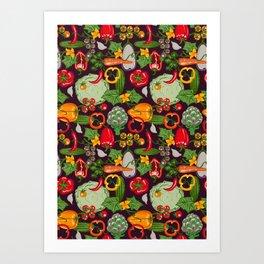 Vegetable Farm Pattern Art Print