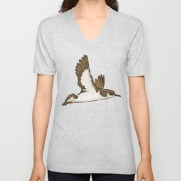 Simple Minimalist Manx Shearwater Flying Unisex V-Neck