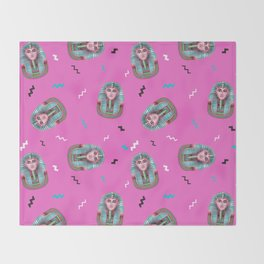 California Pink King Tut Throw Blanket