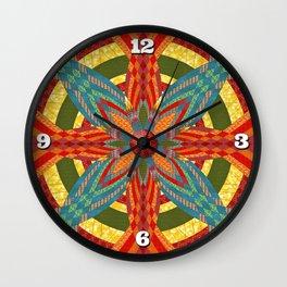 Thistle Pattern Wall Clock