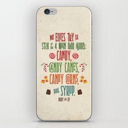 Buddy the Elf! The Four Main Food Groups iPhone Skin