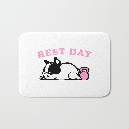 Rest Day Frenchie Bath Mat