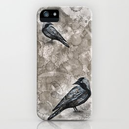 Grunge jackdaw iPhone Case