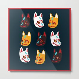 Kitsune Masks Metal Print