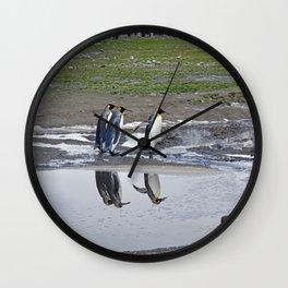 More King Penguin Reflections Wall Clock