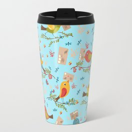 Special Springtime Delivery From Little Birds Pattern Travel Mug