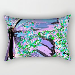 Butterfly Painterly Rectangular Pillow