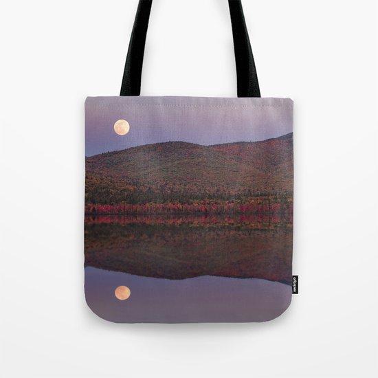 Autumn Mountain Moonrise Tote Bag