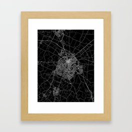 Lexington map Kentucky Framed Art Print