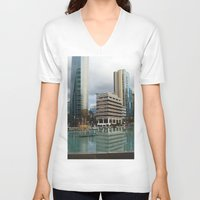 vancouver V-neck T-shirts featuring Vancouver by Chris Root