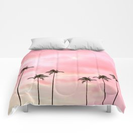 Palm Trees Photography | Hot Pink Sunset Comforters