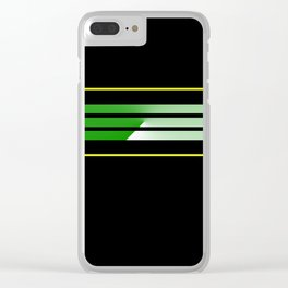 Team Colors 5....green , yellow Clear iPhone Case