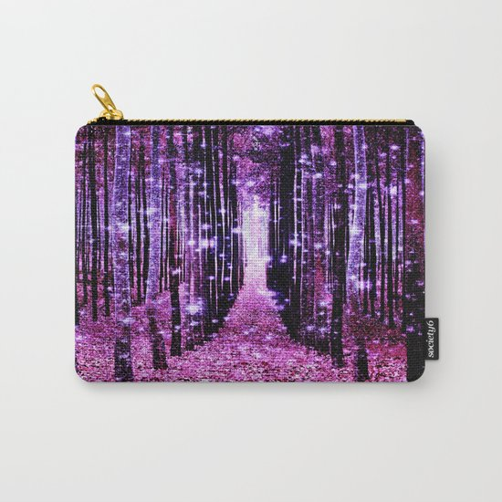Magical Forest Pink & Purple Carry-All Pouch