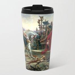 Vercingetorix Throws Down His Arms At The Feet Of Julius Caesar Metal Travel Mug