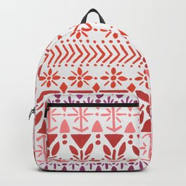 Norwegian Pattern – Reds & Corals Backpack