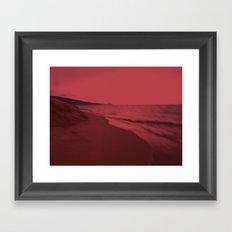 Dreamscape red Framed Art Print
