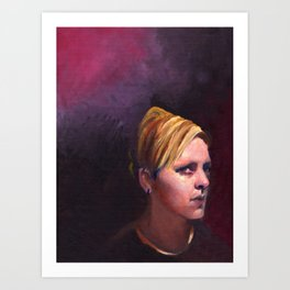 Shannon, Fine Art Oil Painting Portrait Print Art Print