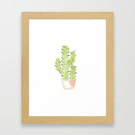 cactus christmas tree Framed Art Print