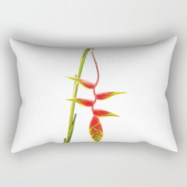 Helionias Tropical Flower white Background Rectangular Pillow