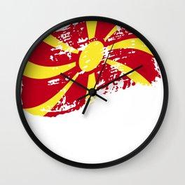 North Macedonia Macedonia gift Skopje flag Wall Clock
