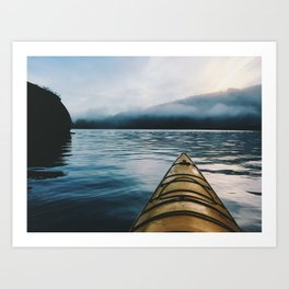 Mud Bay Paddle Art Print