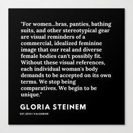 47     Gloria Steinem Quotes   191202 Canvas Print