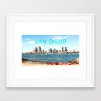 san diego Framed Art Prints featuring San Diego  by Natasha Alexandra Englehardt