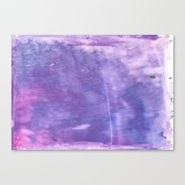 Ube abstract watercolor Canvas Print