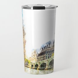 Big Ben, London, Aquarell Travel Mug