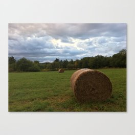 A bale of hay Canvas Print