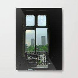 El D. F. Through the Window Metal Print