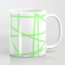 Doodle (Light Green & White) Coffee Mug