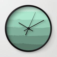 Sage Mint Stripes Wall Clock