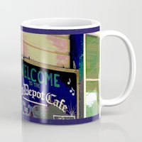 cafe Mugs featuring Cafe by Glenn Designs