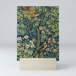 Vintage William Morris pattern pheasant and squirrel Mini Art Print