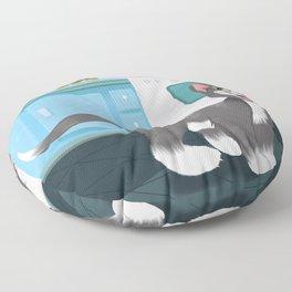 Kitty Spies A Tasty Surprise Floor Pillow