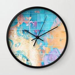 Mosaic Paint Spill V2 #society6 #decor #buyart Wall Clock