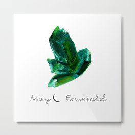 may emerald Metal Print